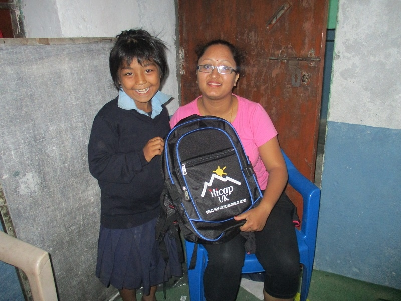 Chinmaya receiving her bag (3)